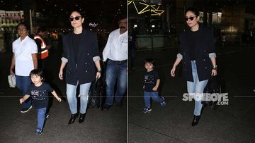 Taimur Ali Khan Is An Enthu Cutlet As He Runs Towards The Paps With Mommy Kareena Kapoor Khan In Tow- VIDEO