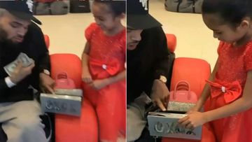 This Christmas, Chris Brown Spoils Daughter Royalty With A Stack Of Cash; Her Reaction In The Video Is Unmissable