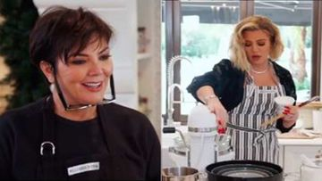 KUWTK Promo: Kardashian Christmas Bake-Off: Khloe Kardashian Sings Wearing Diamonds; Kris Jenner Makes Lemon Cake