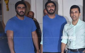 Arjun Kapoor Snapped Outside Anand Pandit's Office In A Casual Avatar