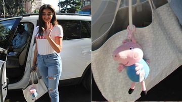 What- Ananya Panday Is A BIG Peppa Pig Fan; The Tote Bag Of The Actress Stands Witness