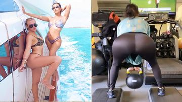 Khloe Kardashian Shares A Provocative VIEW Of Sis Kourtney Kardashian's Butt From Their Gym Work-out