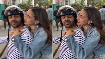 Love Aaj Kal: Sara Ali Khan And Kartik Aaryan Almost Lock Lips On A Bike- WATCH VIDEO