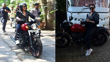 Sonakshi Sinha Rides A Bullet To Kareena Kapoor Khan's Show 'What Women Want'; Leaves Mumbai Streets In Frenzy