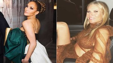 Diet Prada Compares Jennifer Lopez-Gweneth Paltrow's Golden Globes 2020 Gown To A Gift Box And A Dead Xmas Tree