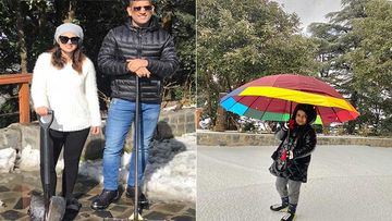 It's Snowing For MS Dhoni, Sakshi Dhoni And Ziva Dhoni; Family Enjoys A Snowy Mussoorie Vacay-Check Video