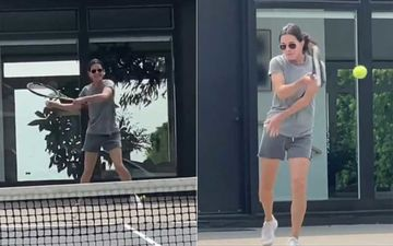 FRIENDS Star Courteney Cox Explains Instagram Vs Reality As She Enjoys Playing Tennis Like A Pro With Her Opponent-WATCH