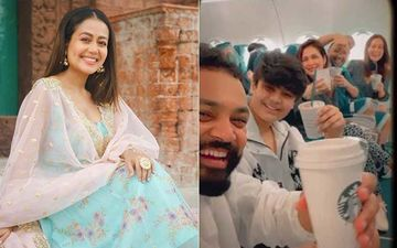 Neha Kakkar And Family Fly Off To Delhi For The Singer's Wedding Festivities; The To-Be Bride Shares A Sneak-Peek From The Airplane