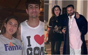 Sara Ali Khan SPOTTED With Ibrahim At Saif And Kareena Kapoor Khan's Residence, Carries A Bag Printed With Her Name