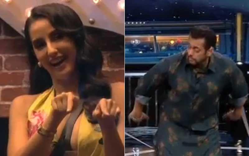 Bigg Boss 14: Nora Fatehi Makes Salman Khan, Eijaz, Abhinav And Rahul Do The GARMI Hookstep; Salman Says 'Nora, Yeh Kya Karwa Rahi Ho?'