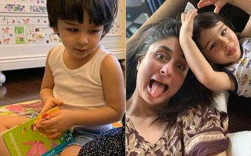 Taimur Ali Khan Is Learning Spanish To Beat Lockdown Blues; Happy Mommy Kareena Shares Pic Of Tim Posing With His Teacher