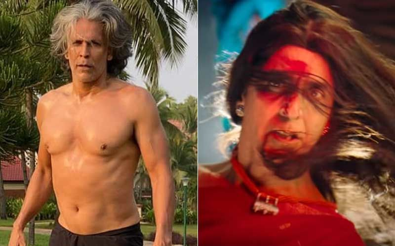Milind Soman Sports A Nose Ring And Kajal, Shares A Pic Of His Face Covered In Gulaal; Curious Fans Ask If He Is Part Of Akshay Kumar's Laxmii