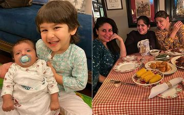 Taimur Ali Khan Flashes A Big Smile Posing With Mommy Kareena Kapoor Khan's Colleague's Baby; Bebo's Pregnancy Glow Though