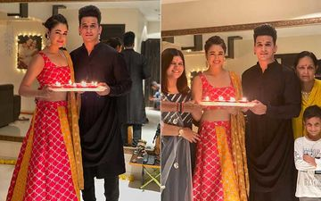 Diwali 2020: When Nach Baliye 9 Winners Prince Narula And Yuvika Chaudhary Took Time Off From Dance Rehearsals To Celebrate With Family