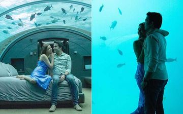 Kajal Aggarwal And Hubby Gautam Kitchlu Enjoy A Peaceful View; Watch Fishes Swim From An Underwater Bedroom