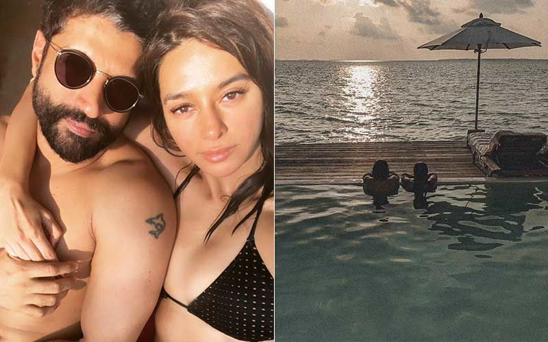 Shibani Dandekar Gives Fans A Glimpse Of Her 'Happy Place'; Shares A Candid With Farhan Akhtar Watching The Horizon