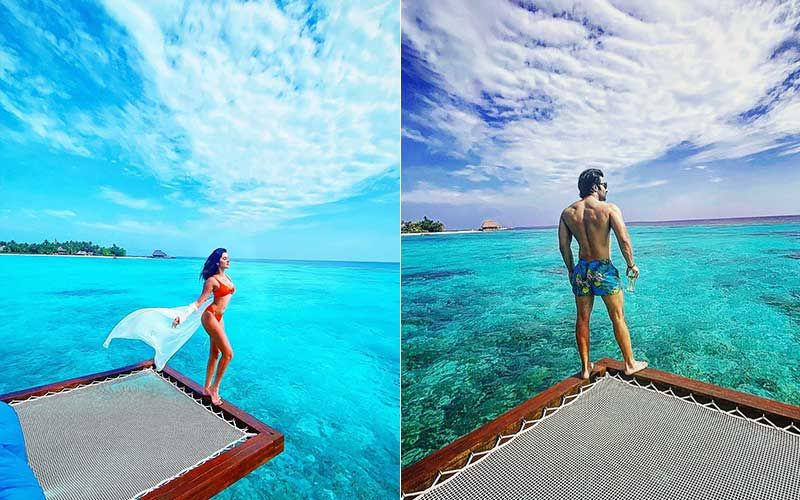 Tara Sutaria And Aadar Jain Turn Photographers For Each Other; Tara Drops A Sexy 'Birthday Baby' Bikini Pic While Aadar Poses In His Trunks
