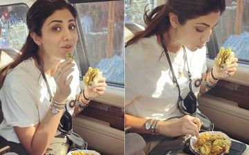 Shilpa Shetty Gorges On Crispy Mouth-Watering Vada Pav; Hubby Raj Kundra Films Her As She Goes 'Hmmmm' With Every Bite-WATCH