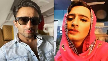 YRHPK Actor Shaheer Sheikh Dresses Up Like A Woman; Flaunts His 'Husn Ke Hazar Rang'-WATCH
