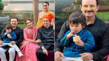 Armaan Jain Wedding: Taimur Ali Khan Has His Full Attention On Cupcakes As Saif-Kareena Pose For A Family Pic
