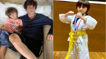 Shah Rukh Khan Shares A Heart-Warming Pic Of Son AbRam Khan As He Wins A Gold Medal For Karate; Says 'Proud And Inspired'