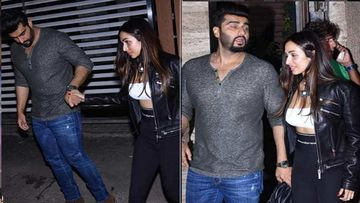 Arjun Kapoor Holds Malaika Arora's Hand As She Walks In High Heels To A Party; Quite The Gentleman