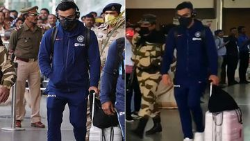 Coronavirus Outbreak: Virat Kohli Back Home With A Mask On After The Cancelled Match; Asks Fans To Stay Strong And Fight