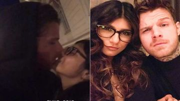 Former Porn Star Mia Khalifa Locks Lips With Fiance Robert Sandberg; The Couple Looks Madly In Love