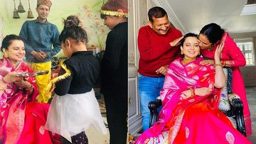 Kangana Ranaut's Family Organises A Birth Pooja For The Actress; Her Parents Shower Her With Blessings On Her Birthday