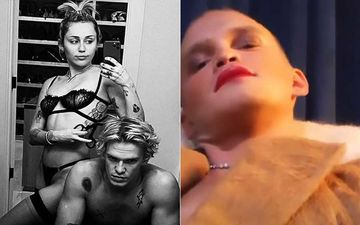Miley Cyrus Gives Beau Cody Simpson A Fab Makeover; The Aussie Singer Rocks Red Bold Lips To 'End Toxic Masculinity'