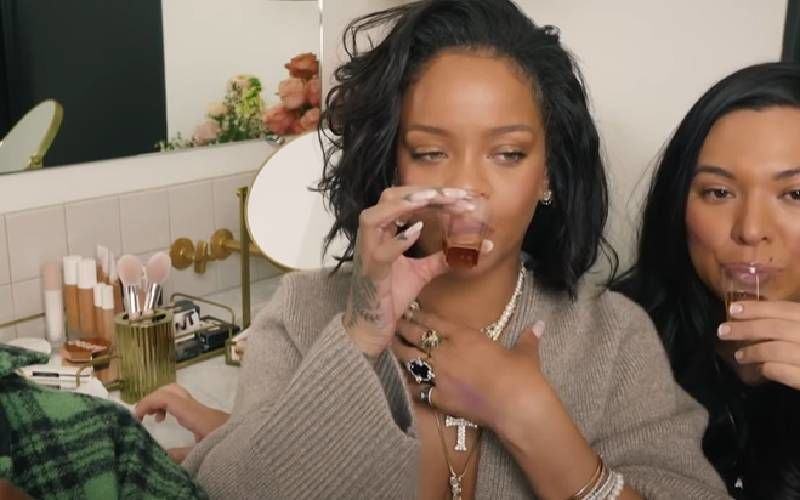 Shots And Swatches: Rihanna Downs Tequila Shots As She Introduces New Shades Of Blushes - WATCH