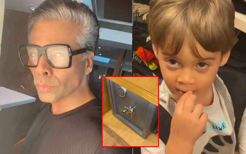 Karan Johar Gives A Glimpse Of His Tjori Parked In His Closet; Son Yash Thinks It's A Washing Machine - WATCH