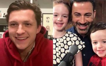 Tom Holland Aka Spiderman Wishes His Biggest Fan Billy Kimmel; Dons The Superhero Suit For Jimmy Kimmel's Little Man