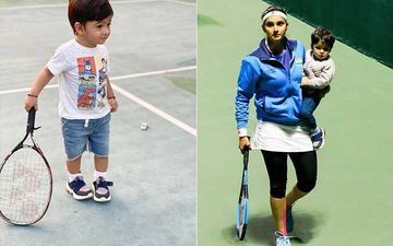 Sania Mirza's Son Izhaan Mirza Malik Accompanies Mom To The Tennis Court With A Racket And We Must Say He's Quite Ready