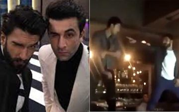 When Ranbir Kapoor And Ranveer Singh Were Crazy Enough To Dance On A Bar Island At A Party- WATCH