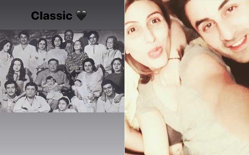 Ranbir Kapoor's Sister Riddhima Kapoor Sahni Shares A 'Classic' Black And White Pic Of The Kapoor Family; Sunday Nostalgia Peaks
