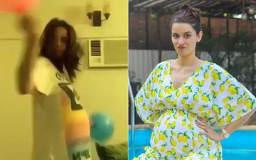 A Heavily Pregnant Ekta Kaul Shares A Cutesy Video Dancing With Pink And Blue Balloons As She Waits For Her Due Date-WATCH
