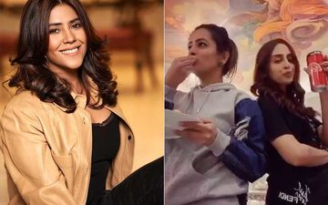 Krystle D'Souza And Anita Hassanandani's Girls Night Is All About Pizza And Soda; Ekta Kapoor Is Loving Their #FlipTheSwitch Challenge
