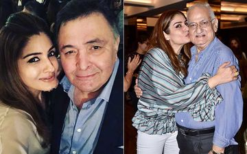 Raveena Tandon Misses Her Dearest Chintu Uncle; Shares A Throwback Video Of Rishi Kapoor Wishing Her Dad On His Birthday-WATCH