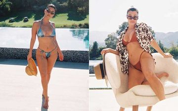 Want A Sexy Hot Bikini Bod Like Kourtney Kardashian? Here's Her Guide To Sexy Toned Abs While At Home In 3 Simple Steps