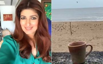 Cyclone Nisarga: Twinkle Khanna Says 'Stay Safe Folks'; Enjoys A Hot Cup Of Chai By The Sea Before The Cyclone Hits -VIDEO