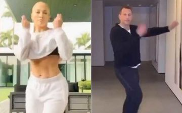 Jennifer Lopez Says 'Machos Got Moves' As She Challenges Fiancé Alex Rodriguez For A Dance Performance-WATCH The Couple Groove