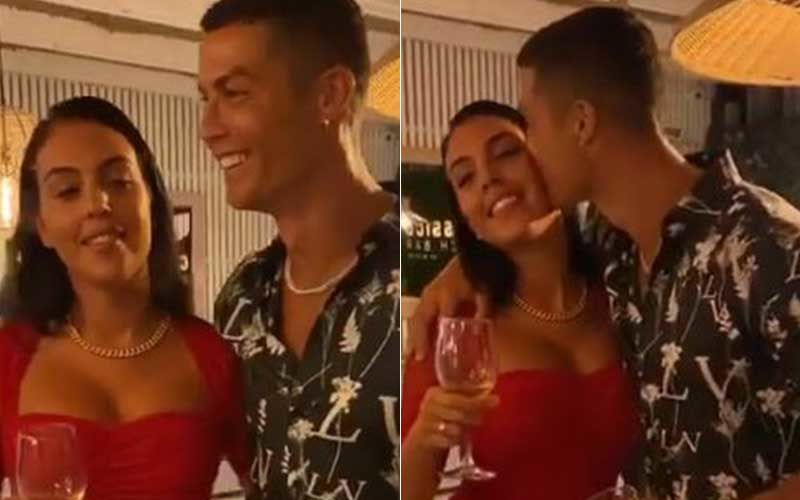 Christiano Ronaldo Dances On Rose Petals With GF Georgina Rodriguez To A Romantic Beat; Lady Shows Off Her Sapphire Ring Amidst Engagement Rumours