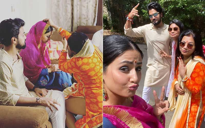 Raksha Bandhan 2020: Hina Khan Spends Her Day With Beau Rocky Jaiswal's Family; Glams Up To Enjoy The Special Occasion
