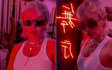 Miley Cyrus Teases Fan With A Blingy Video From Her Upcoming Single; Leaves Fans In Frenzy As She Captions It 'Tease'-WATCH