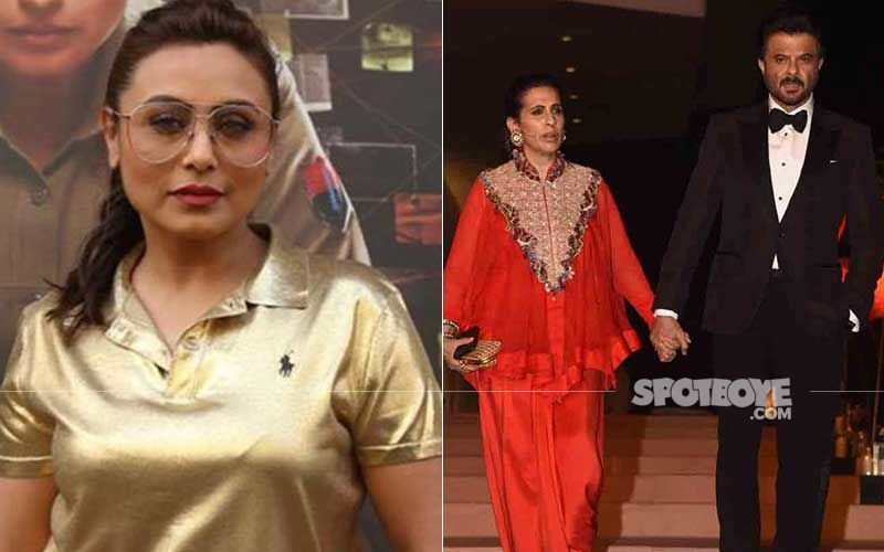 Rani Mukerji Arrives At Anil Kapoor's Residence To Wish Sunita Kapoor On Her Birthday; Gets Clicked While Making A Classy Exit