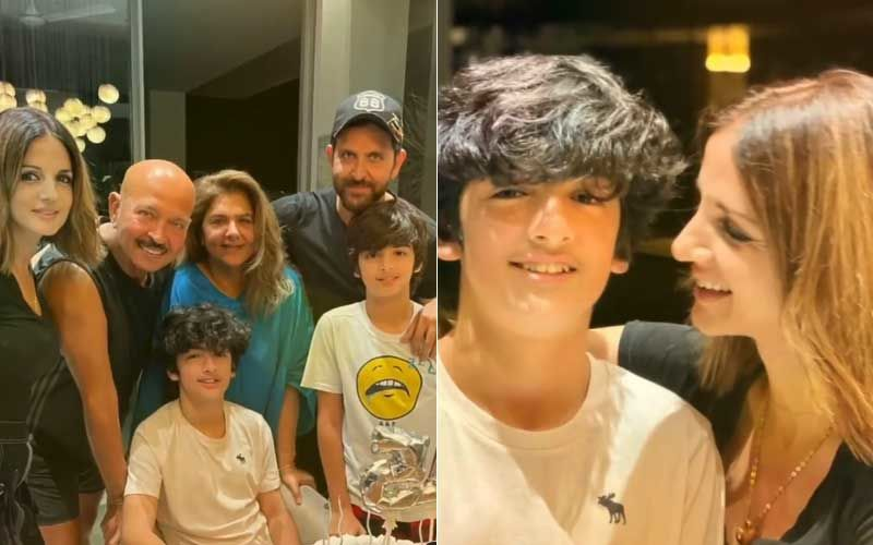 Hrithik Roshan And Ex-Wife Sussanne Khan Come Together To Celebrate Son Hrehaan's Birthday; Here's A Sneak-Peek From The Celebration- WATCH