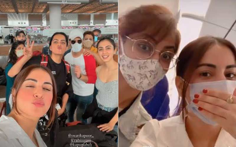 Shraddha Arya Shares Airport Pics As Team Kundali Bhagya Jets Off To Goa Amid New Restrictions In Maharashtra; Actress Hints At Crossover Episode With Kumkum Bhagya