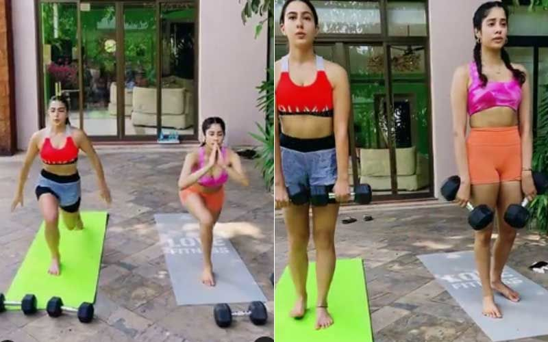 Sara Ali Khan And Janhvi Kapoor Perform Rigorous Work-Out Together; Khan Says 'That's How You'll Get The Golden Glow' – WATCH Video