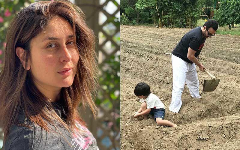 Earth Day 2021: Kareena Kapoor Khan Urges Fans To 'Plant More Trees'; Drops Pics Of Her 'Favourite Boys' Saif Ali Khan-Taimur Ali Khan Farming At Pataudi Palace